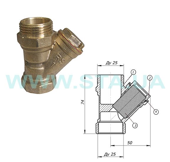 Brass Y-strainers